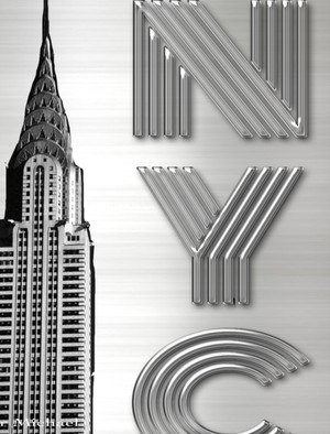 Iconic Chrysler Building New York City Sir Michael Huhn Artist Drawing Writing journal