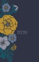 2020 Planner - Diary - Journal - Week Per Spread - Grey Floral