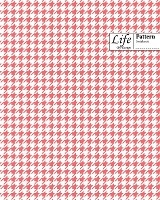 Checkered Ii Pattern Composition Notebook Wide Large 100 Sheet Pink Cover