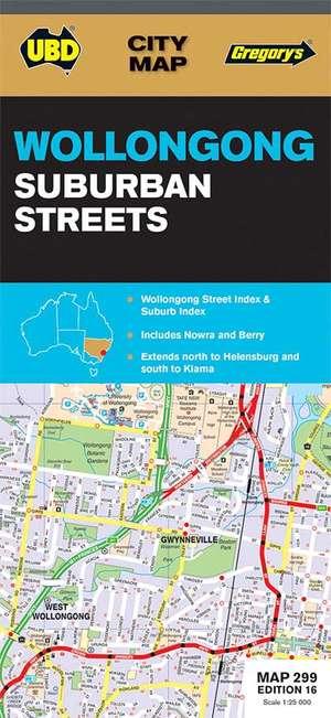 Wollongong Suburban Streets New South Wales  1 : 25 000