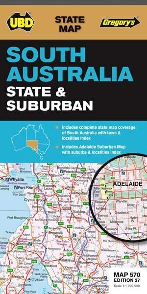 South Australia State & Suburban 1 : 1 900 000