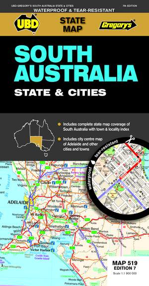 South Australia - State & Cities 1 : 1 900 000