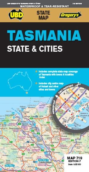 Tasmania State & Cities  1 : 625 000