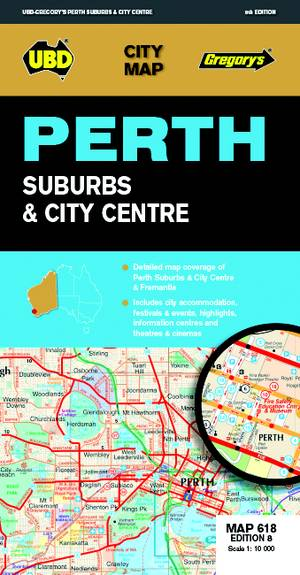 Perth City Streets & Suburbs 1 : 25 000