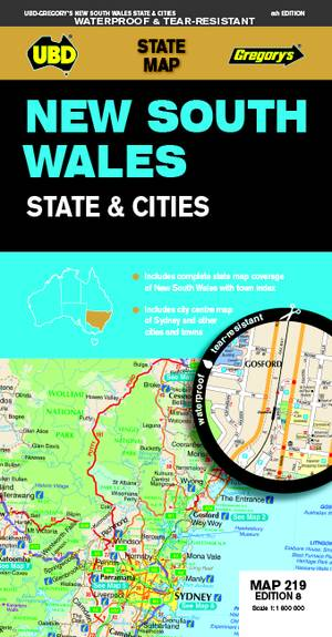 New South Wales State and Cities Map 219