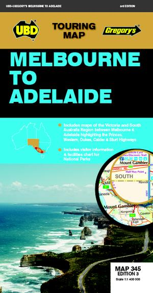 Melbourne To Adelaide Map 345 3rd Ed