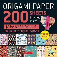 Origami Paper 200 Sheets Japanese Dolls 6 Inch (15 Cm)