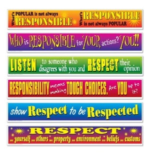Responsibility And Respect Banners