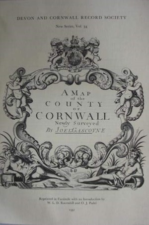 Joel Gascoyne`s Map Of Cornwall 1699