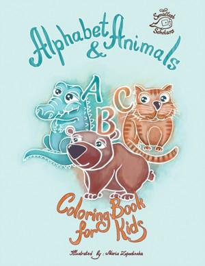 Alphabet & Animals Coloring Book For Kids