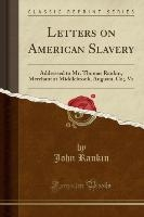 LETTERS ON AMER SLAVERY