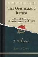 Lawford, J: Ophthalmic Review, Vol. 12