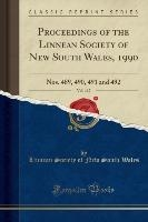 Wales, L: Proceedings of the Linnean Society of New South Wa