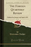 Author, U: Foreign Quarterly Review, Vol. 11