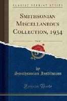 Institution, S: Smithsonian Miscellaneous Collection, 1934,