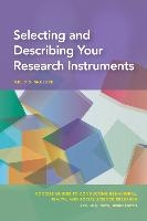 Selecting And Describing Your Research Instruments
