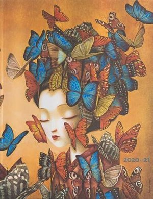 Paperblanks Diary Ultra Madame Butterfly 18 maanden 2020-2021 agenda