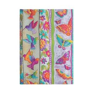 Paperblanks Diary Midi Horizontal Hummingbirds & Flutterbyes 18 maanden 2021-2022 agenda