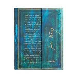 Paperblanks Diary Ultra Vertical  Jules Verne - Twenty Thousand Leagues 18 maanden 2021-2022 agenda