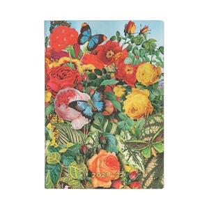 Paperblanks Diary Midi Horizontal Flexi Butterfly Garden 18 maanden 2021-2022 agenda