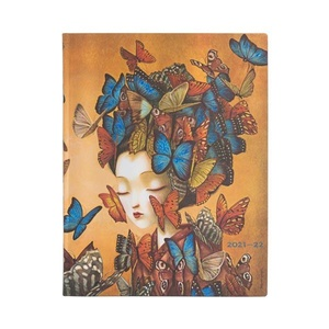 Paperblanks Diary Ultra Flexis Vertical Madame Butterfly 18 maanden 2021-2022 agenda