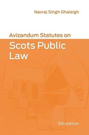 Avizandum Statutes On Scots Public Law