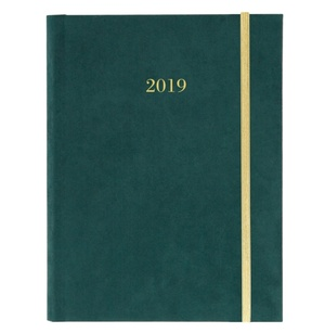 FOREST GREEN 2019 FABRIC HARBOUND DIARY