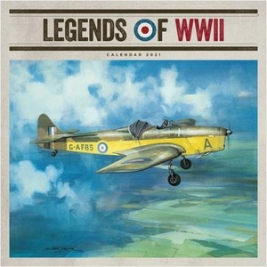 Legends Of WW II Square Wall Calendar 2021
