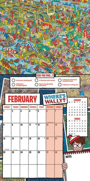 Where's Wally Square Wall Calendar 2021