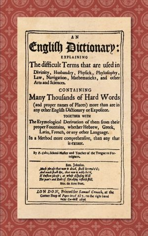English Dictionary (1676)