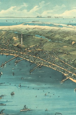 Ca. 1910 Map Of Provincetown, Massachusetts