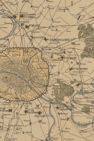 1870 Plan Of Paris And Its Surroundings, Showing All Fortifications