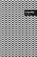 Loyalty Lifestyle, Creative, Write-in Notebook, Dotted Lines, Wide Ruled, Medium Size 6 X 9 Inch, 288 Pages (black)