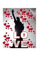 Statue Of Liberty Valentine's Heart Creative Blank Love Journal