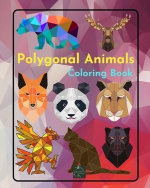 Polygonal Animals Coloring Book