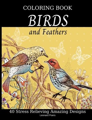 Birds And Feathers Coloring Book