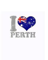 I Love Perth Notebook: Blank Lined Paper Notebook Australia Australian