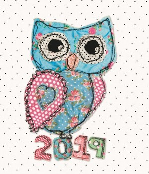 Fashion Diary Owl Sq Pkt D 2019