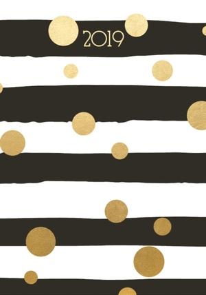 Fashion Diary Stripes & Foil Dots A6 D 2019