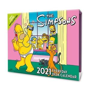 The Simpsons Desk Block Kalender 2021