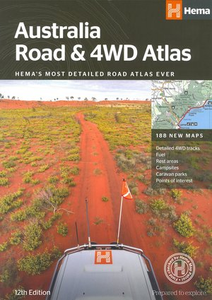 Australië Road & 4WD atlas spir.