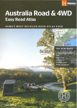 Australië Easy Read Road & 4WD atlas A3