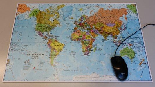 Muismat wereld 1:60.000.000