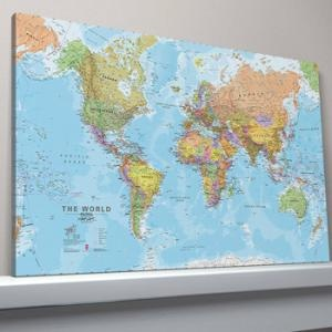 Maps International World Map Political Large Canvas