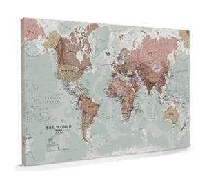 Maps International World Map Executive Large Canvas
