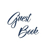 Navy Blue Guest Book, Weddings, Anniversary, Party's, Special Occasions, Memories, Christening, Baptism, Visitors Book, Guests Comments, Vacation Home Guest Book, Beach House Guest Book, Comments Book, Funeral, Wake And Visitor Book (hardback)
