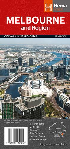Melbourne + Region Handy Map