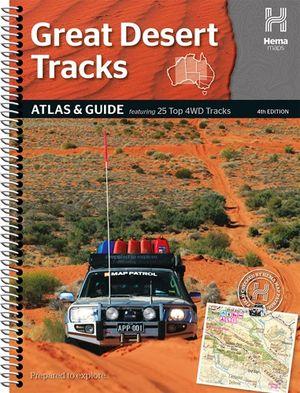 Australië Great Desert Tracks atlas & guide A4