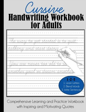 Cursive Handwriting Workbook For Adults