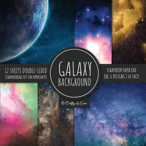 Galaxy Background Scrapbook Paper Pad 8x8 Scrapbooking Kit For Papercrafts, Cardmaking, Diy Crafts, Space Pattern Design, Multicolor